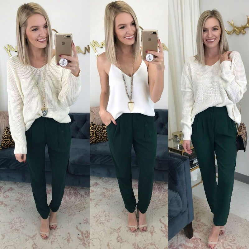 Hunter Green with Envy Pants