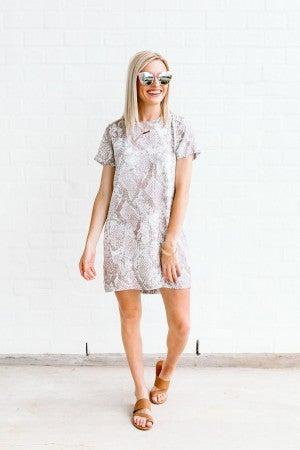 Spring Snake Print Dress