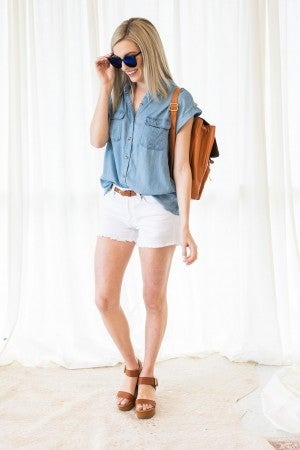 Classically Yours Denim Top