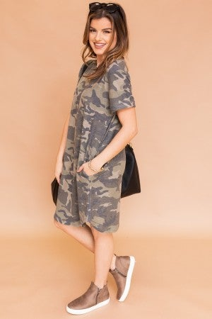 Standing Out Camo Dress