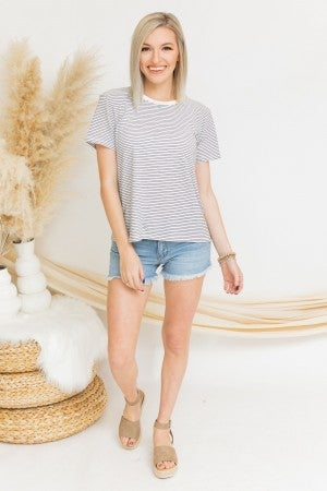 Must be Time Striped Tee *Final Sale*