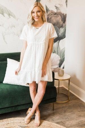 Lovely In White Eyelet Dress
