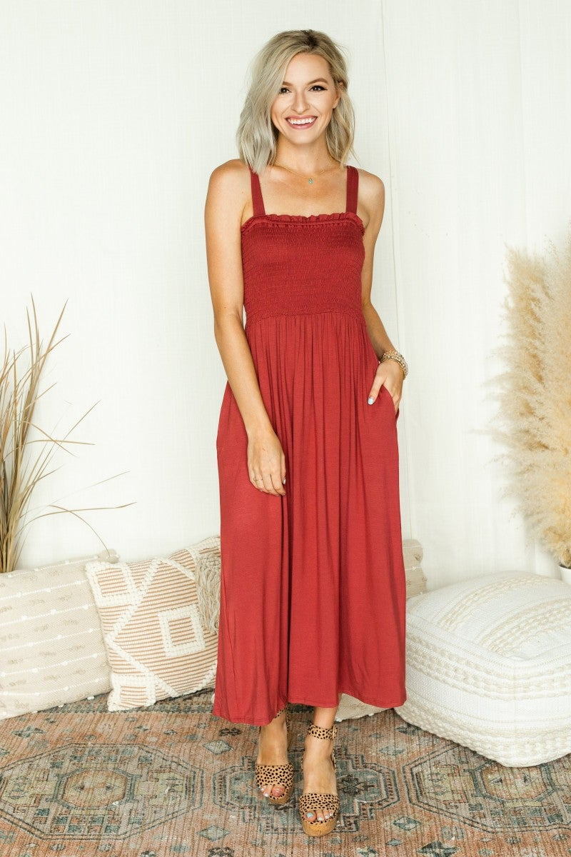 Keep it Cool Smocked Maxi