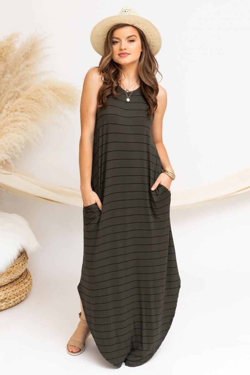Keep it Casual Maxi in Olive