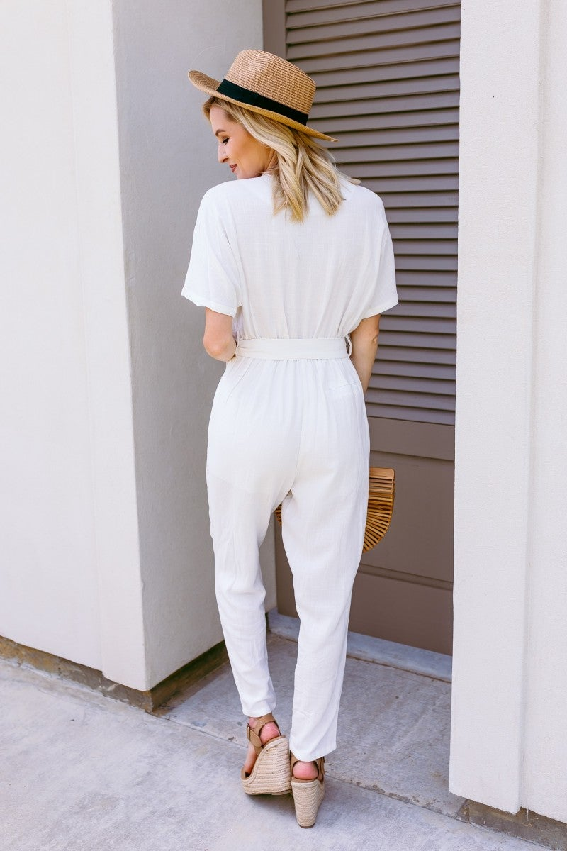 Linen on the Edge Jumpsuit