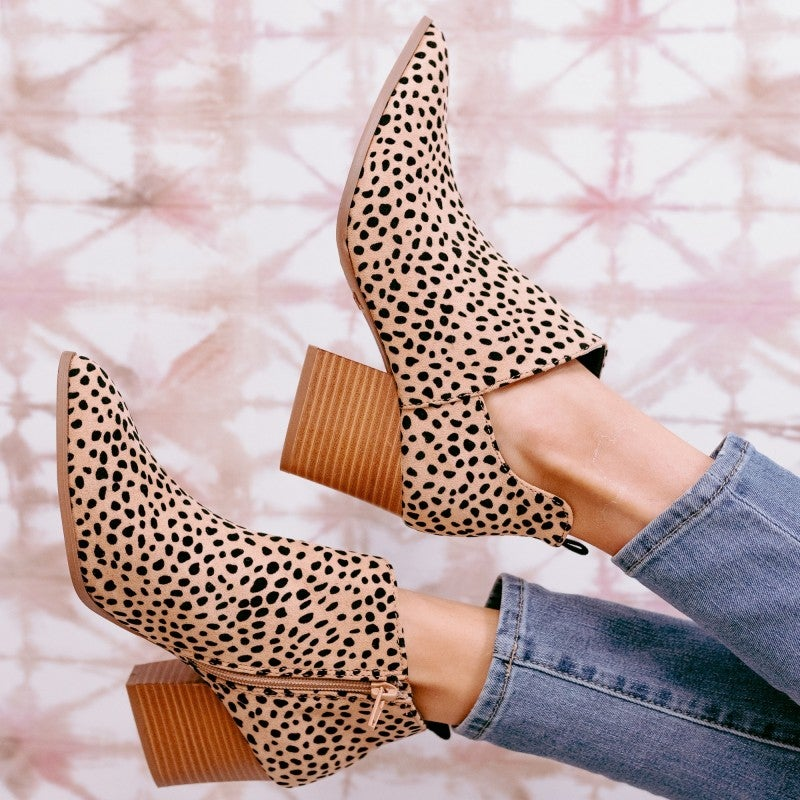 Easy to Spot  Leopard Bootie