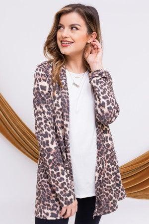Leopard Living Cardigan