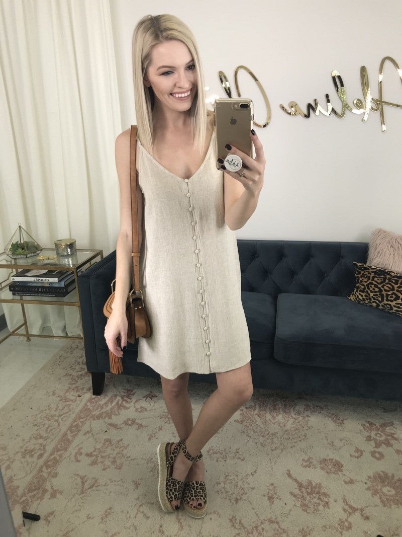 All Buttoned In Dress
