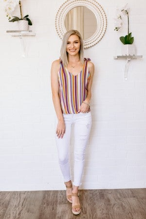 Stripes & Sunshine Tank