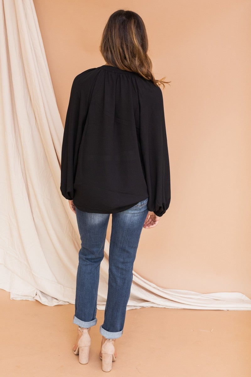 Date Night Bubble Sleeve Top