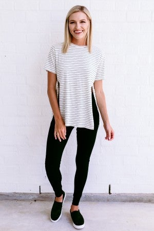 Slip into Spring Striped Top