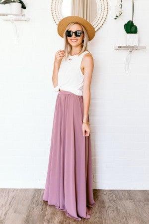 Mauve Over Skirt