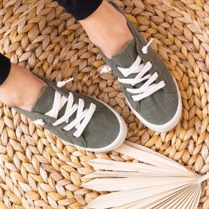 Tied to Olive Sneaker