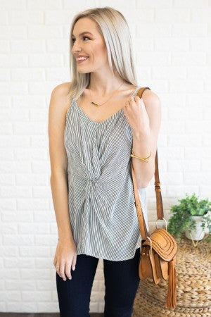 Twisted + Striped Top