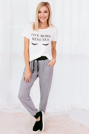 Night in Striped Joggers