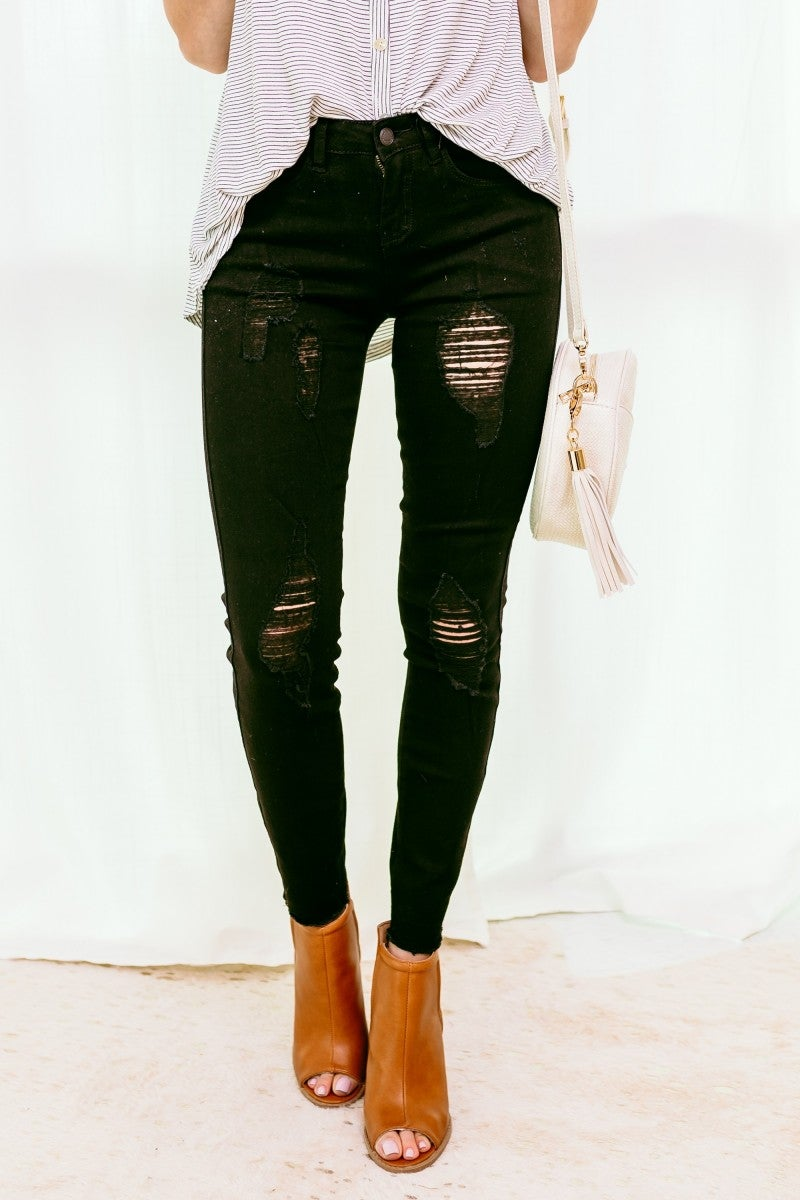 Blogger Black Denim