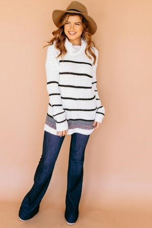Subtle Pop of Color Sweater