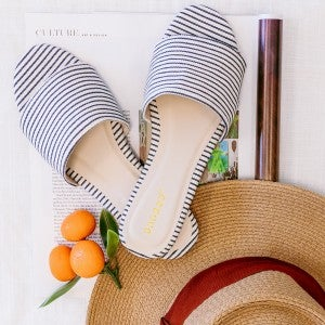 Happy Feet Striped Sandals