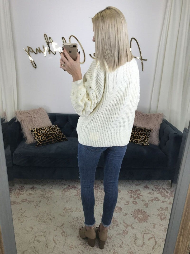Top to Bottom Chic Sweater Cream
