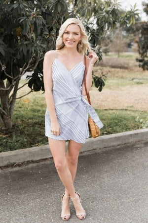 Wrapped in Stripes Romper