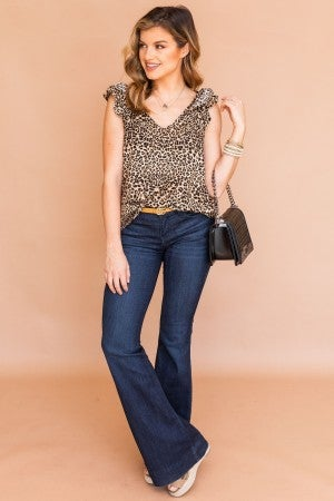 Spotted in Leopard Top