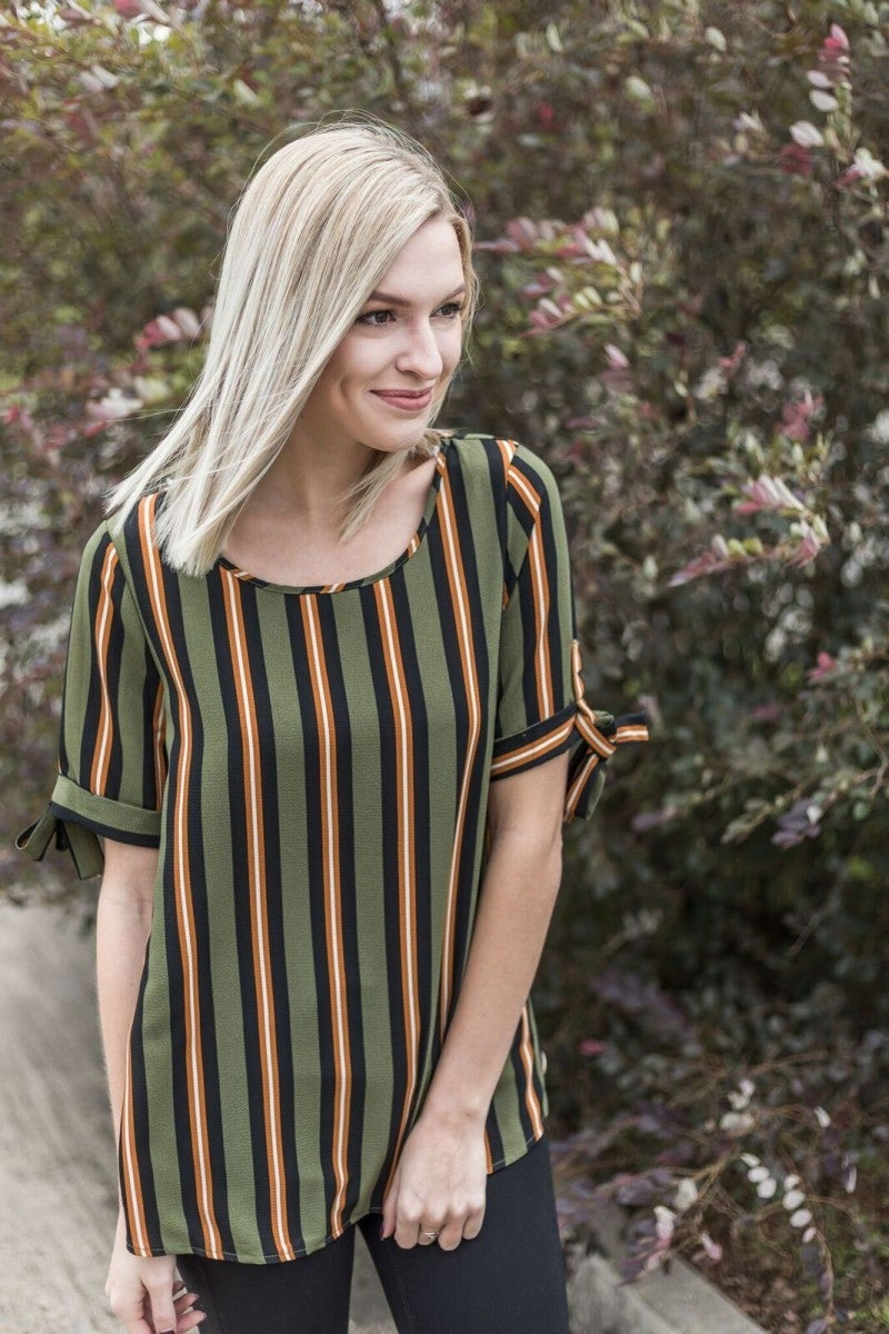 Give Thanks Striped Top