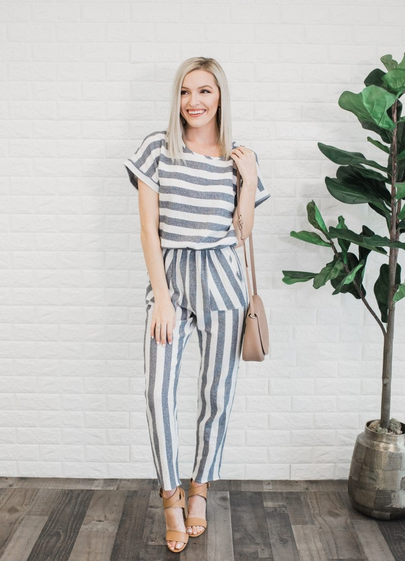 Into You Striped Jumpsuit