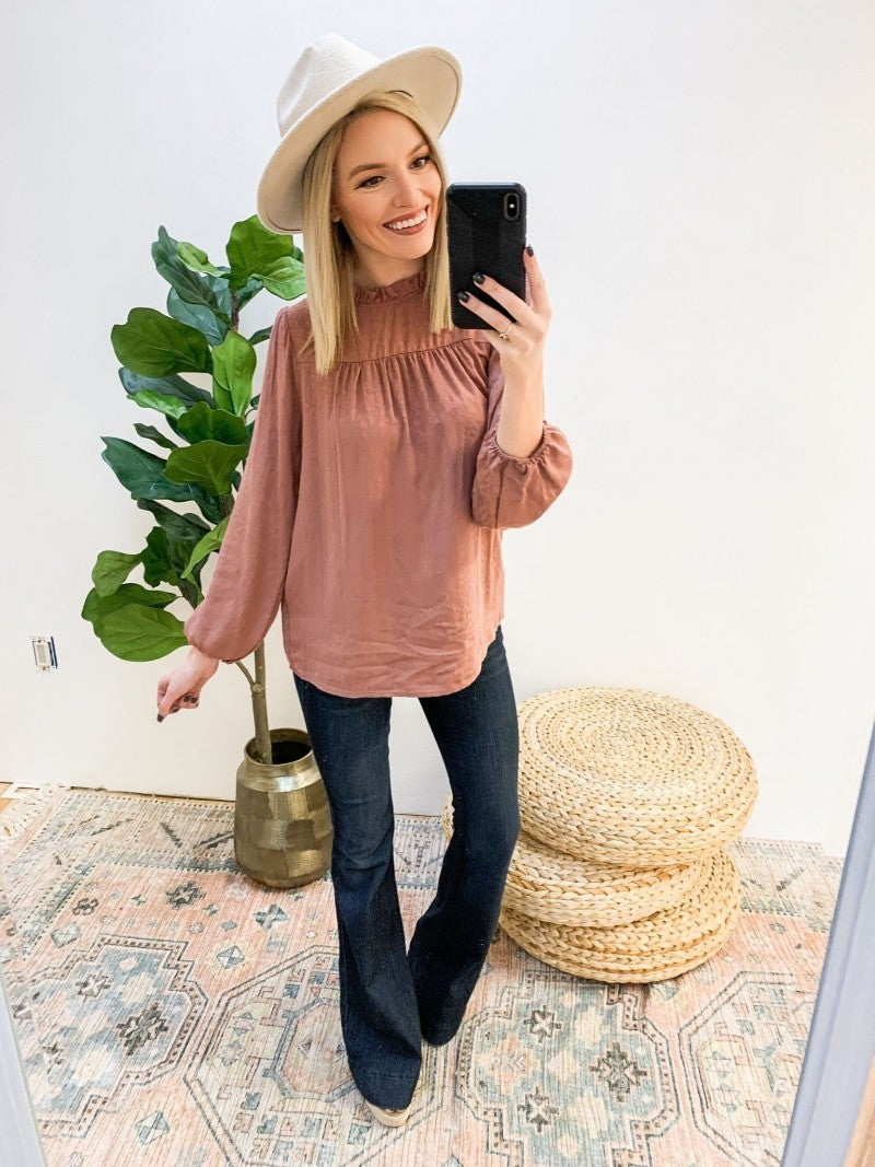 Soft Spoken Leopard Top