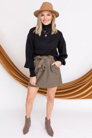The Long Haul Sweater in Black