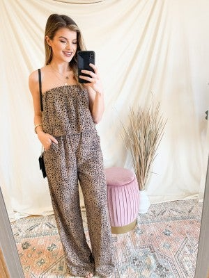 Everything You Need Leopard Jumpsuit