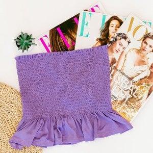 Lavender Love Smocked Top