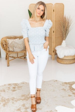 Sweeter When Smocked Top