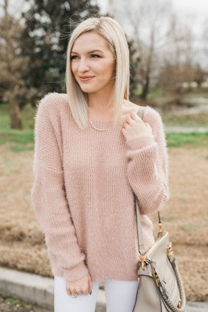 Back to the Twist Blush Sweater