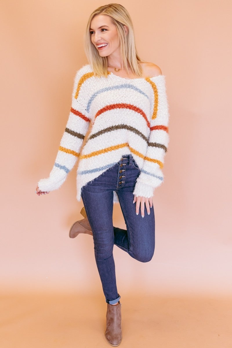 Going For The Stripes Sweater