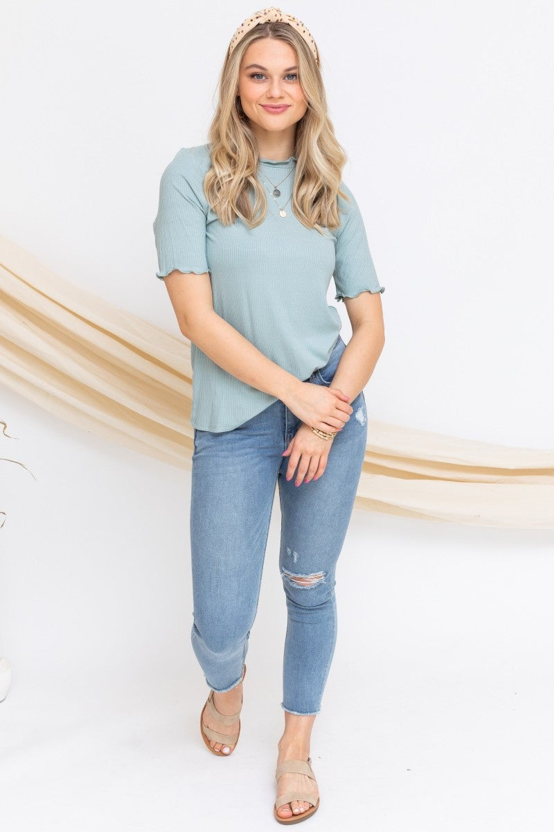 Ruffled in Time Top