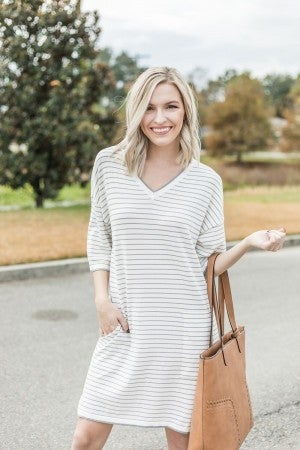 Striking in Stripes Dress