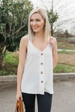 All in Button Down Tank