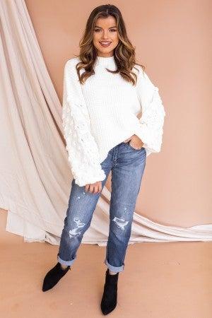 Top to Bottom Chic Sweater Cream