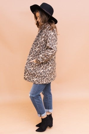 """As if "" Leopard Coat"