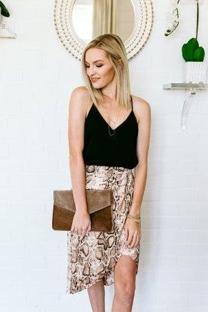 Make a Statement Wrap Skirt