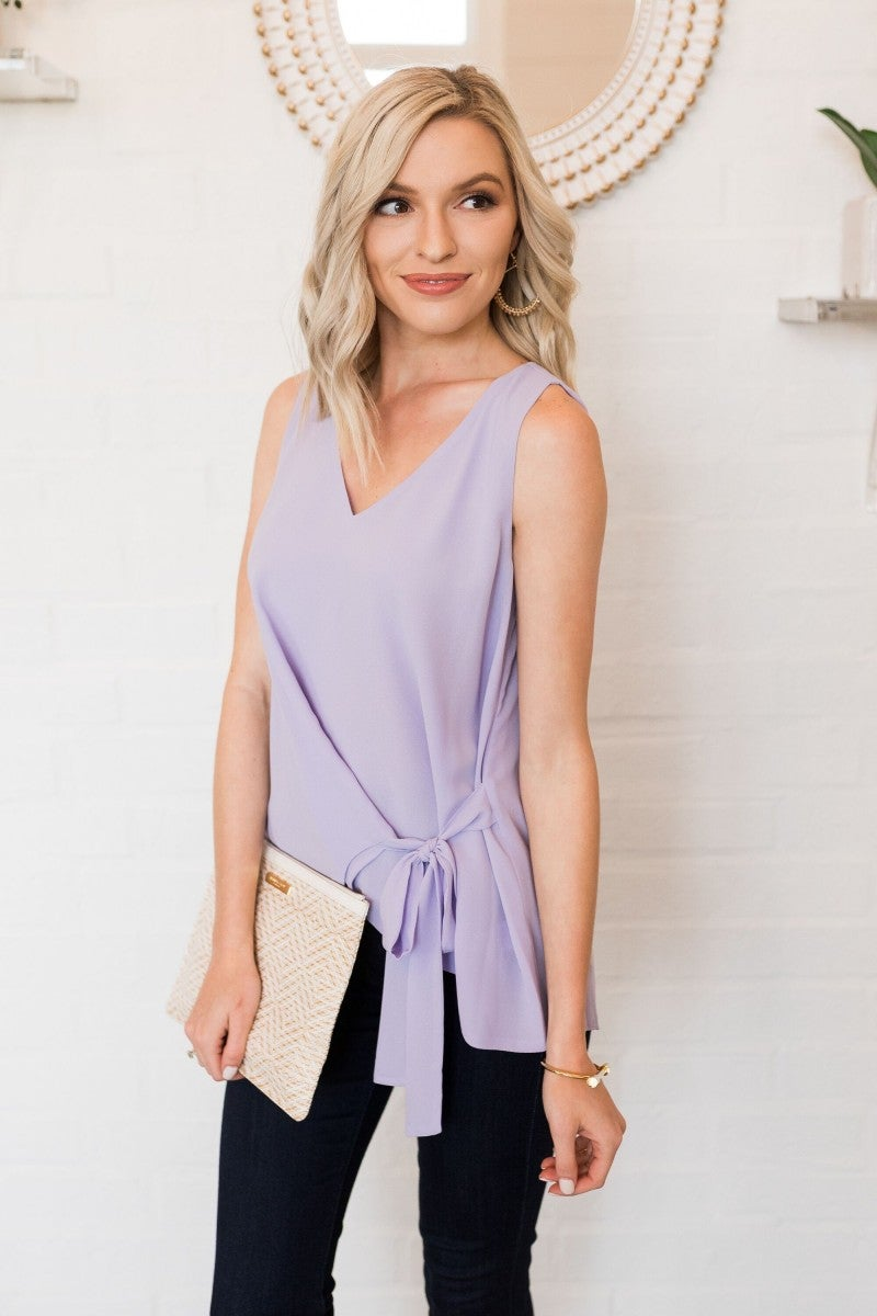 Feeling Bright Lavender Top
