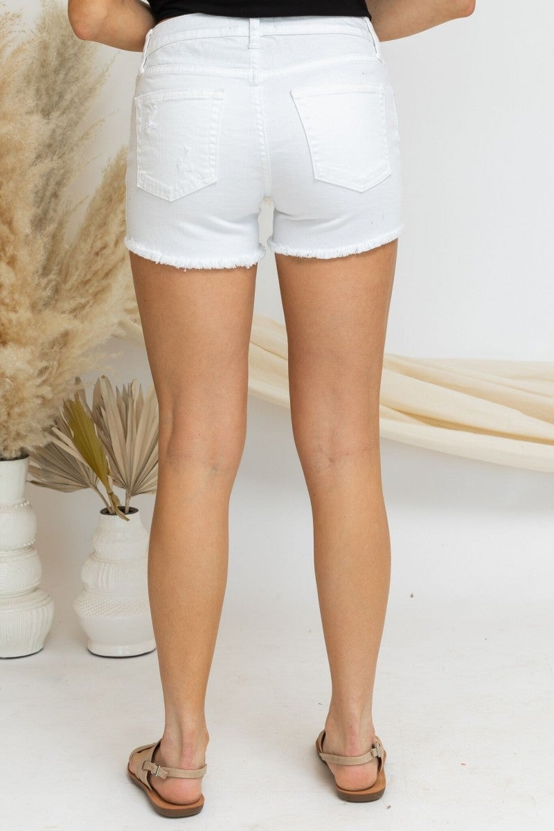 Denim on Denim Shorts in White