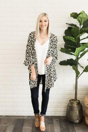 Lean into Leopard Kimono