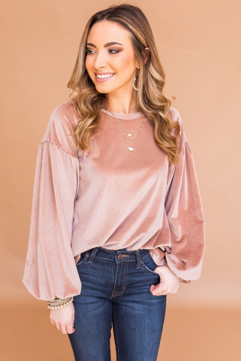 Blushing in Velvet Top