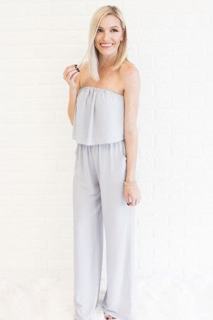 Everything You Need Jumpsuit in Grey