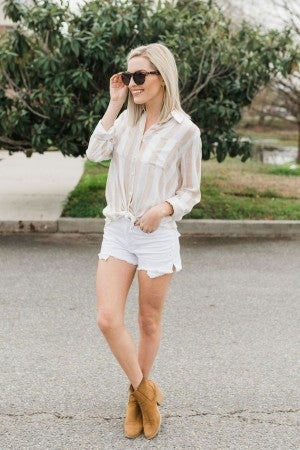 Simple Striped Button Down