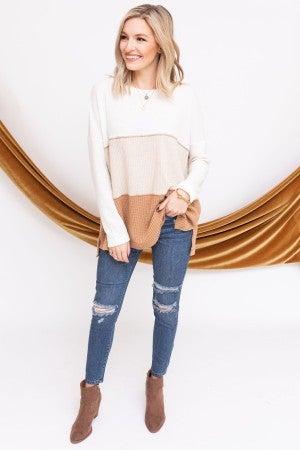 Leave it in Neutrals Sweater