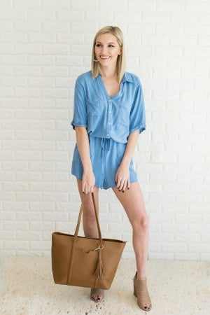 Sing the Blues Chambray Romp