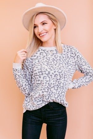 Cozy in Leopard Sweater