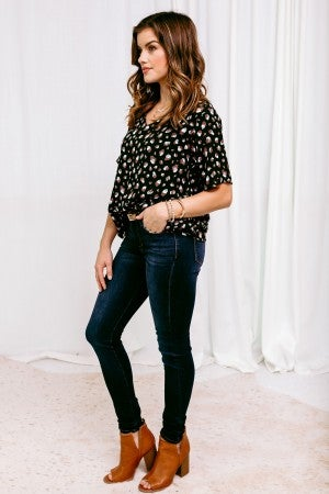Tied to Leopard Top